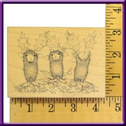 Rubber Stamp Peace On Earth Stampa Rosa Inc. House Mouse Wood Mounted 1999 2