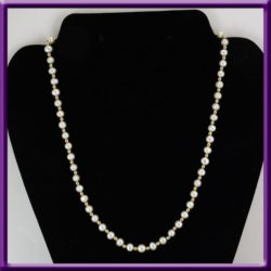 Pearl 14K Gold Bead Single Strand Necklace 1