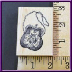 Rubber Stamp PSX Floral Evening Purse, F-3169, 2000 Wood Mounted, Used