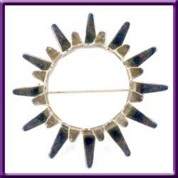 Tone Vigeland Brooch Sol Sunburst Sterling Silver