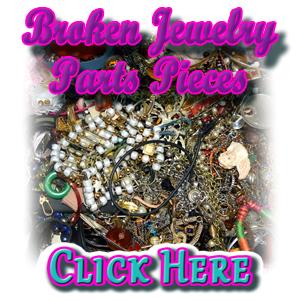Broken Jewelry Parts Pieces