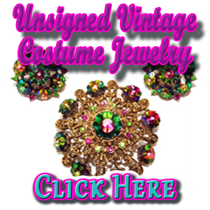 Unsigned Vintage Costume Jewelry